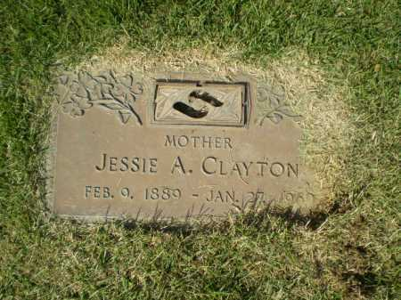CLAYTON, JESSIE A - Douglas County, Nebraska | JESSIE A CLAYTON - Nebraska Gravestone Photos