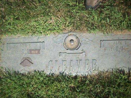 CLEAVER, ORA B - Douglas County, Nebraska | ORA B CLEAVER - Nebraska Gravestone Photos