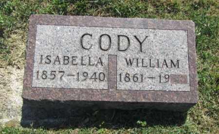 CODY, ISABELLA - Douglas County, Nebraska | ISABELLA CODY - Nebraska Gravestone Photos