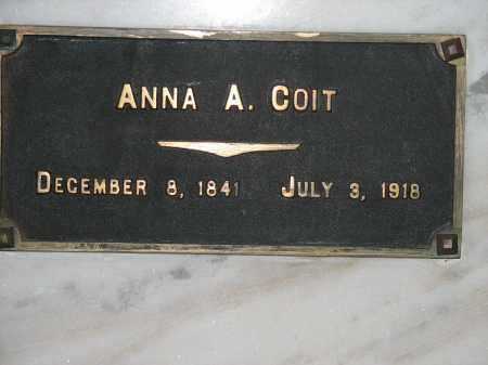 COIT, ANNA A. - Douglas County, Nebraska | ANNA A. COIT - Nebraska Gravestone Photos