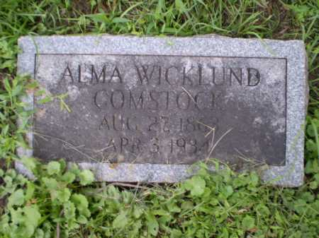 WIKLUND COMSTOCK, ALMA - Douglas County, Nebraska | ALMA WIKLUND COMSTOCK - Nebraska Gravestone Photos