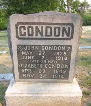 CONDON, ELIZABETH - Douglas County, Nebraska | ELIZABETH CONDON - Nebraska Gravestone Photos