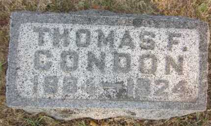 CONDON, THOMAS F. - Douglas County, Nebraska | THOMAS F. CONDON - Nebraska Gravestone Photos
