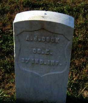 COOK, ANDREW J. - Douglas County, Nebraska   ANDREW J. COOK - Nebraska Gravestone Photos
