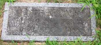COOK, EDITH M. - Douglas County, Nebraska   EDITH M. COOK - Nebraska Gravestone Photos
