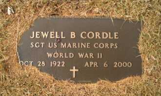 CORDLE, JEWELL B - Douglas County, Nebraska | JEWELL B CORDLE - Nebraska Gravestone Photos