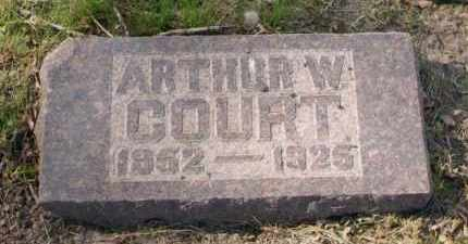 COURT, ARTHUR W. - Douglas County, Nebraska | ARTHUR W. COURT - Nebraska Gravestone Photos