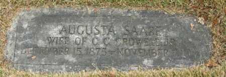 SAARE CROWELL, AUGUSTA - Douglas County, Nebraska | AUGUSTA SAARE CROWELL - Nebraska Gravestone Photos