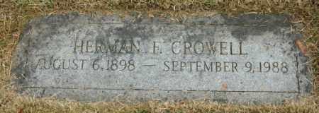 CROWELL, HERMAN E. - Douglas County, Nebraska   HERMAN E. CROWELL - Nebraska Gravestone Photos