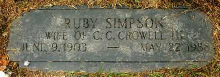 CROWELL, RUBY - Douglas County, Nebraska | RUBY CROWELL - Nebraska Gravestone Photos