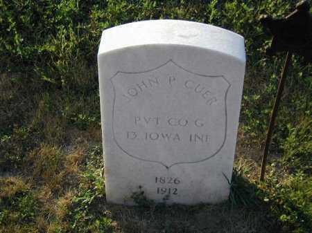 CUER, JOHN P - Douglas County, Nebraska | JOHN P CUER - Nebraska Gravestone Photos