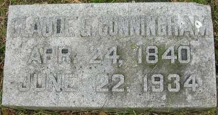 CUNNINGHAM, CLAUDE G. - Douglas County, Nebraska | CLAUDE G. CUNNINGHAM - Nebraska Gravestone Photos
