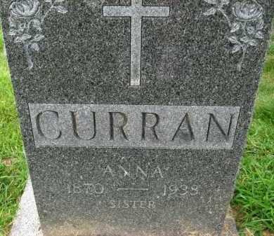 CURRAN, ANNA - Douglas County, Nebraska   ANNA CURRAN - Nebraska Gravestone Photos
