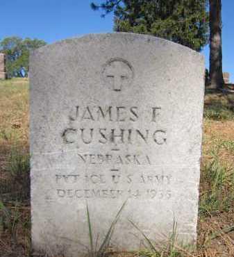 CUSHING, JAMES F. - Douglas County, Nebraska   JAMES F. CUSHING - Nebraska Gravestone Photos