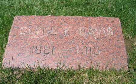 DAVIS, CLYDE E - Douglas County, Nebraska | CLYDE E DAVIS - Nebraska Gravestone Photos