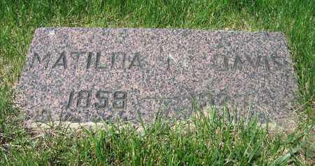 DAVIS, MATILDA M - Douglas County, Nebraska | MATILDA M DAVIS - Nebraska Gravestone Photos