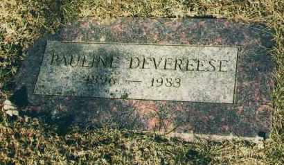DEVEREESE, PAULINE - Douglas County, Nebraska | PAULINE DEVEREESE - Nebraska Gravestone Photos