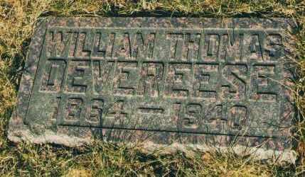 DEVEREESE, WILLIAM T. - Douglas County, Nebraska   WILLIAM T. DEVEREESE - Nebraska Gravestone Photos