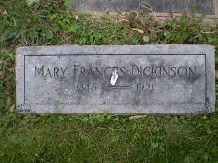 DICKINSON, MARY FRANCES - Douglas County, Nebraska | MARY FRANCES DICKINSON - Nebraska Gravestone Photos