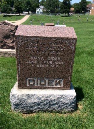 DIDEK, ANNA - Douglas County, Nebraska | ANNA DIDEK - Nebraska Gravestone Photos