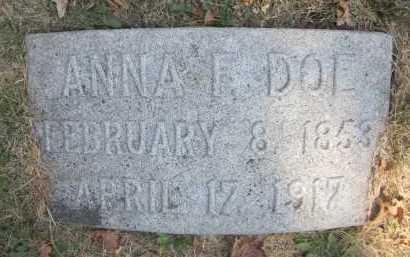 DOE, ANNA F. - Douglas County, Nebraska | ANNA F. DOE - Nebraska Gravestone Photos