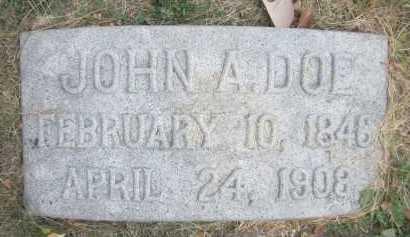 DOE, JOHN A. - Douglas County, Nebraska | JOHN A. DOE - Nebraska Gravestone Photos