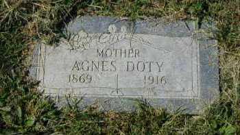DOTY, AGNES - Douglas County, Nebraska | AGNES DOTY - Nebraska Gravestone Photos