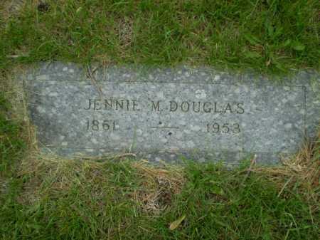 DOUGLAS, JENNIE M - Douglas County, Nebraska | JENNIE M DOUGLAS - Nebraska Gravestone Photos