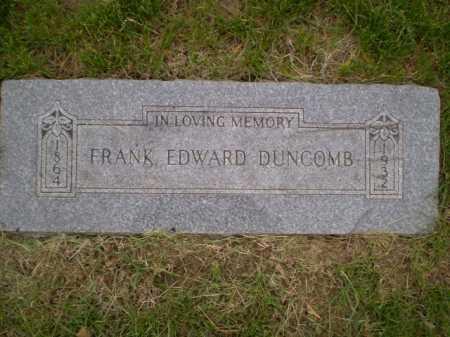 DUNCOMB, FRANK EDWARD - Douglas County, Nebraska | FRANK EDWARD DUNCOMB - Nebraska Gravestone Photos