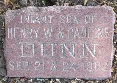 DUNN, INFANT SON - Douglas County, Nebraska | INFANT SON DUNN - Nebraska Gravestone Photos