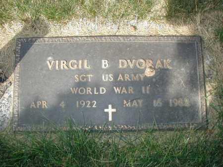 DVORAK, VIRGIL B - Douglas County, Nebraska   VIRGIL B DVORAK - Nebraska Gravestone Photos
