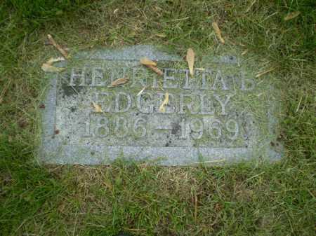 EDGERLY, HENRIETTA B. - Douglas County, Nebraska | HENRIETTA B. EDGERLY - Nebraska Gravestone Photos