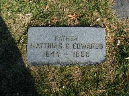EDWARDS, MATTHIAS G. - Douglas County, Nebraska | MATTHIAS G. EDWARDS - Nebraska Gravestone Photos
