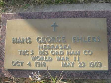 EHLERS, HANS GEORGE - Douglas County, Nebraska   HANS GEORGE EHLERS - Nebraska Gravestone Photos