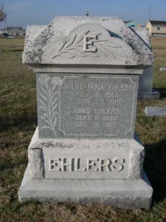 EHLERS, WILHELMINA - Douglas County, Nebraska   WILHELMINA EHLERS - Nebraska Gravestone Photos