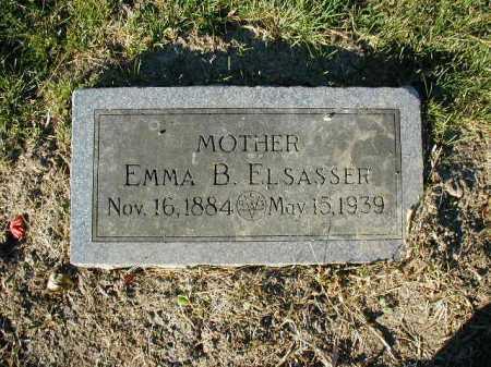 ELSASSER, EMMA B. - Douglas County, Nebraska | EMMA B. ELSASSER - Nebraska Gravestone Photos