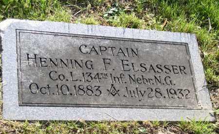 ELSASSER, HENNING F. - Douglas County, Nebraska | HENNING F. ELSASSER - Nebraska Gravestone Photos