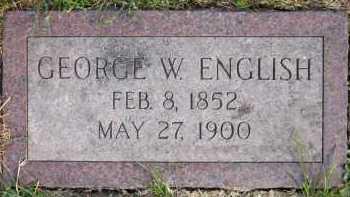 ENGLISH, GEORGE W. - Douglas County, Nebraska | GEORGE W. ENGLISH - Nebraska Gravestone Photos