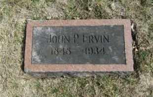 ERVIN, JOHN P. - Douglas County, Nebraska | JOHN P. ERVIN - Nebraska Gravestone Photos