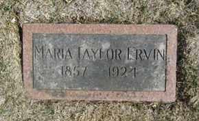 ERVIN, MARIA - Douglas County, Nebraska | MARIA ERVIN - Nebraska Gravestone Photos