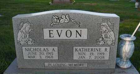 EVON, NICHOLAS A. - Douglas County, Nebraska | NICHOLAS A. EVON - Nebraska Gravestone Photos