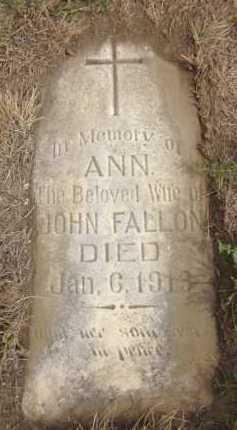 FALLON, ANN - Douglas County, Nebraska | ANN FALLON - Nebraska Gravestone Photos