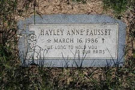 FAUSSET, HAYLEY ANNE - Douglas County, Nebraska | HAYLEY ANNE FAUSSET - Nebraska Gravestone Photos