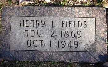 FIELDS, HENRY L. - Douglas County, Nebraska   HENRY L. FIELDS - Nebraska Gravestone Photos