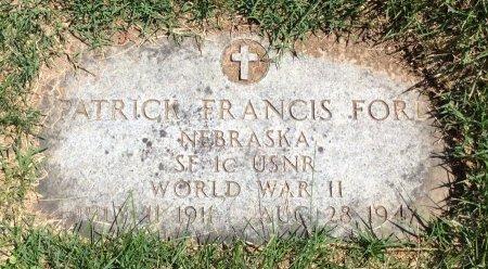 FORD, PATRICK FRANCIS - Douglas County, Nebraska   PATRICK FRANCIS FORD - Nebraska Gravestone Photos