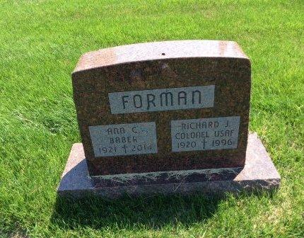 FORMAN, ANN C. - Douglas County, Nebraska | ANN C. FORMAN - Nebraska Gravestone Photos