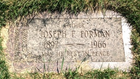 FORMAN, JOSEPH F. - Douglas County, Nebraska   JOSEPH F. FORMAN - Nebraska Gravestone Photos