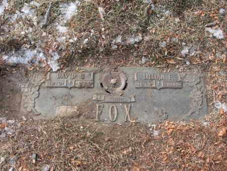 FOX, DAVID - Douglas County, Nebraska | DAVID FOX - Nebraska Gravestone Photos
