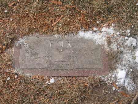 FOX, WAYNE - Douglas County, Nebraska | WAYNE FOX - Nebraska Gravestone Photos