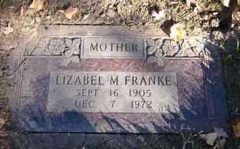 FRANKE, LIZABEL M. - Douglas County, Nebraska   LIZABEL M. FRANKE - Nebraska Gravestone Photos